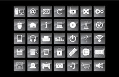 Technology and web vector icons. Technology and web vector icon set Stock Images