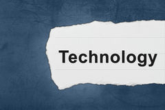 Technology with white paper tears Royalty Free Stock Photography