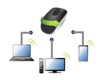 Technology Wireless computer mouse Stock Photos