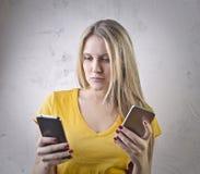 Technology woman Royalty Free Stock Photo