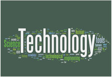 Technology word cloud Stock Photos
