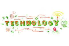 Technology word illustration Royalty Free Stock Images
