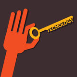 Technology word key Royalty Free Stock Photos