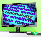 Technology Word Meaning Innovation Software And Hi Tech Royalty Free Stock Images