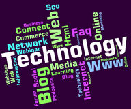 Technology Word Shows Digital Technologies And High-Tech Royalty Free Stock Image