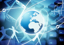 Technology World. An image based on the world and technology in business Stock Images