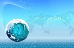 Technology World and Email icon Royalty Free Stock Image