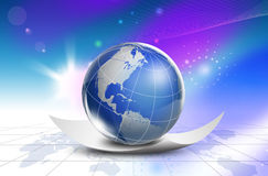Technology World map - america Royalty Free Stock Photos