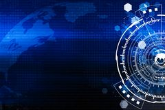 Technology and worldwide connection background concept in blue t stock illustration