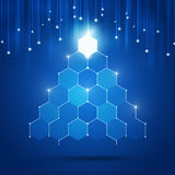 Technology Xmas Tree Stock Photo