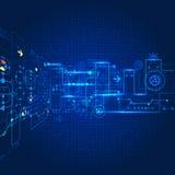 Technologybackground astratto di futuro di ingegneria illustrazione vettoriale