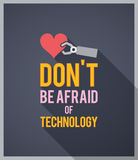 Technophobia awareness poster Royalty Free Stock Photography