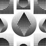 Technostyle czarno biały wzór Obrazy Royalty Free