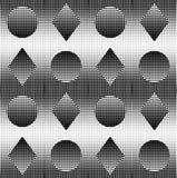 Technostyle monokrom geometrisk bakgrund Arkivfoton
