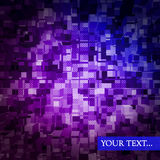 Technotextuur in purpere en blauwe kleuren Stock Fotografie