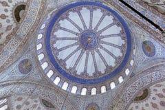 Techo adornado de la mezquita Fotos de archivo libres de regalías
