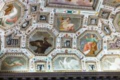 Techo adornado de Palazzo Chiericati en Vicenza Imagen de archivo libre de regalías