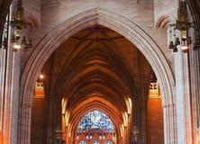 Techo arqueado dentro de la catedral fotografía de archivo libre de regalías