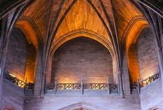 Techo arqueado dentro de la catedral imagen de archivo libre de regalías