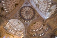 Techo azul de la mezquita Imagen de archivo libre de regalías