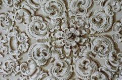Techo barroco del detalle del ornamento Fotos de archivo