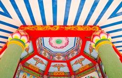 Techo chino del loto Fotografía de archivo