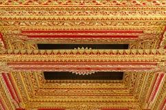 Techo con el ornamento hermoso en palacio del sultanato de Yogyakarta Fotografía de archivo libre de regalías