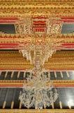 Techo con el ornamento hermoso en palacio del sultanato de Yogyakarta Imagen de archivo libre de regalías