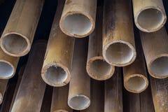 Techo de bambú amarillo Fotos de archivo libres de regalías