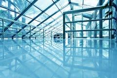 Techo de cristal azul del aeropuerto Imágenes de archivo libres de regalías