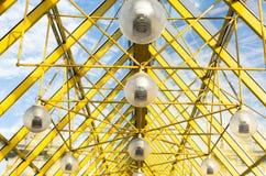 Techo de cristal con las lámparas Imagenes de archivo