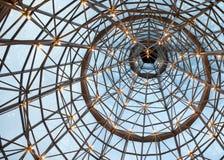 Techo de cristal encendido del braguero Fotografía de archivo