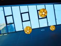 Techo de cristal transparente en un edificio Fotos de archivo