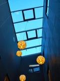 Techo de cristal transparente en un edificio Foto de archivo
