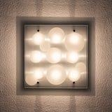 techo de la Abajo-luz, interior del hogar Fotografía de archivo