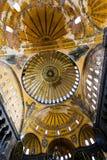 Techo de la basílica de Hagia Sophia en Estambul, Turquía foto de archivo