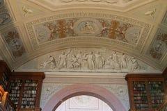 Techo de la biblioteca en el Pannonhalma benedictino Archabbey Imagenes de archivo