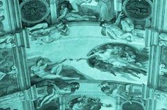 Techo de la capilla de Sistine imagen de archivo libre de regalías