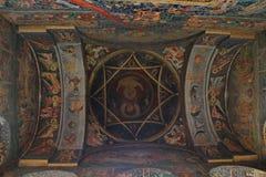 Techo de la iglesia - pinturas Imagen de archivo
