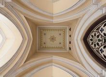 Techo de la iglesia santa del rosario Foto de archivo libre de regalías