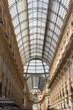 Techo de la luz del centro comercial de Milán Foto de archivo libre de regalías