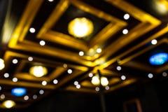 Techo de madera del estilo tailandés de la sala de estar Imagenes de archivo