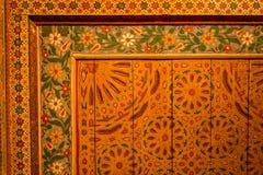 Techo de madera pintado Imagenes de archivo