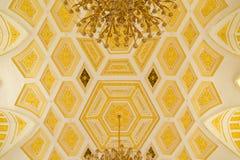Techo de oro de la reserva histórica y arquitectónica Tsaritsyno del estado del museo Foto de archivo