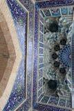 Techo del mausoleo del emir de Guri de la puerta fotos de archivo