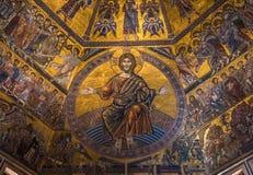 Techo del mosaico del bautisterio de San Giovanni, Florencia Imágenes de archivo libres de regalías