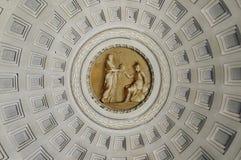 Techo del museo del Vaticano Imagen de archivo libre de regalías