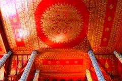 Techo del rojo de la belleza Fotos de archivo