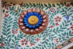 Techo en el palacio de la ciudad, Udaipur imagen de archivo libre de regalías