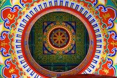 Techo en el templo chino, Tailandia Fotos de archivo libres de regalías